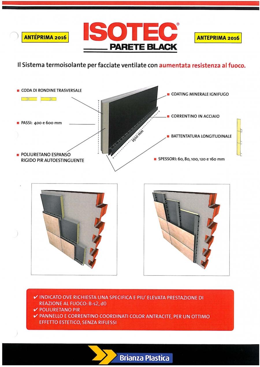 ISOTEC PARETE BLACK_il sitema termoisolante per facciate ventilate con aumentata resistenza al fuoco